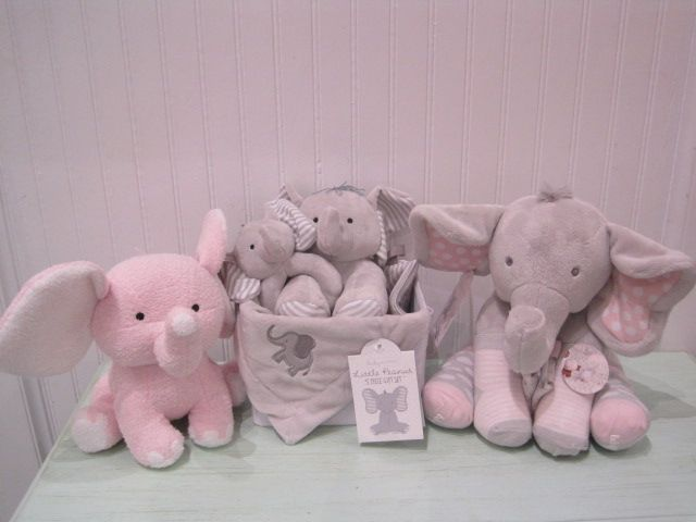 Pink Elephant $16, Little Peanut 5 Piece Gift Set $45, Elephant with Socks $32.JPG