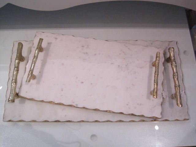 Marble & Gold Bamboo Handled Trays $90 & $124.JPG