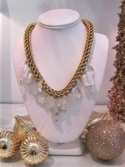 White Crystal Glass Charm Necklace $325.JPG