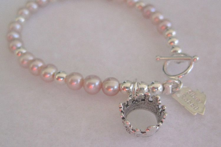 "Crown Pink Round Pearls-5.5"", 6"", 6.5"", & 16""Matching Earrings available"
