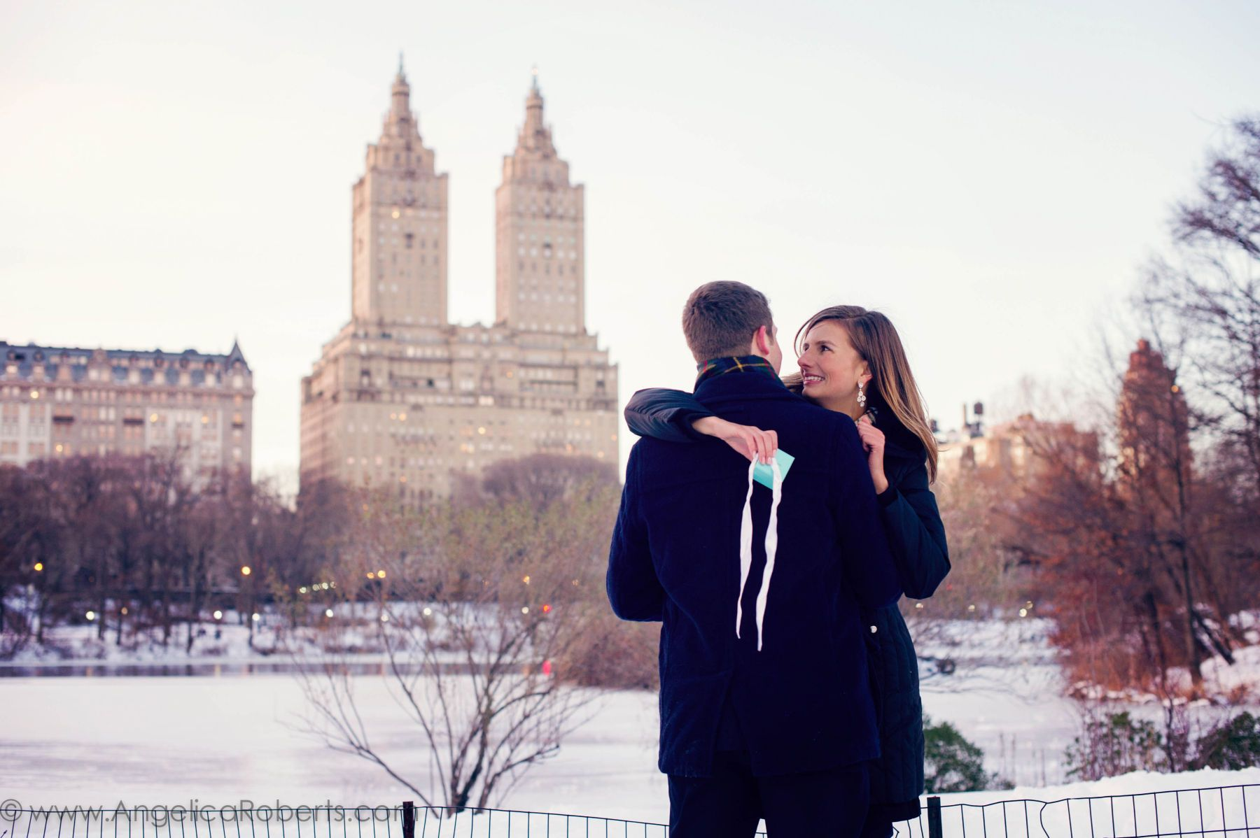 New York City Engagement photography by Angelica Roberts Photography- Central Park Engagement