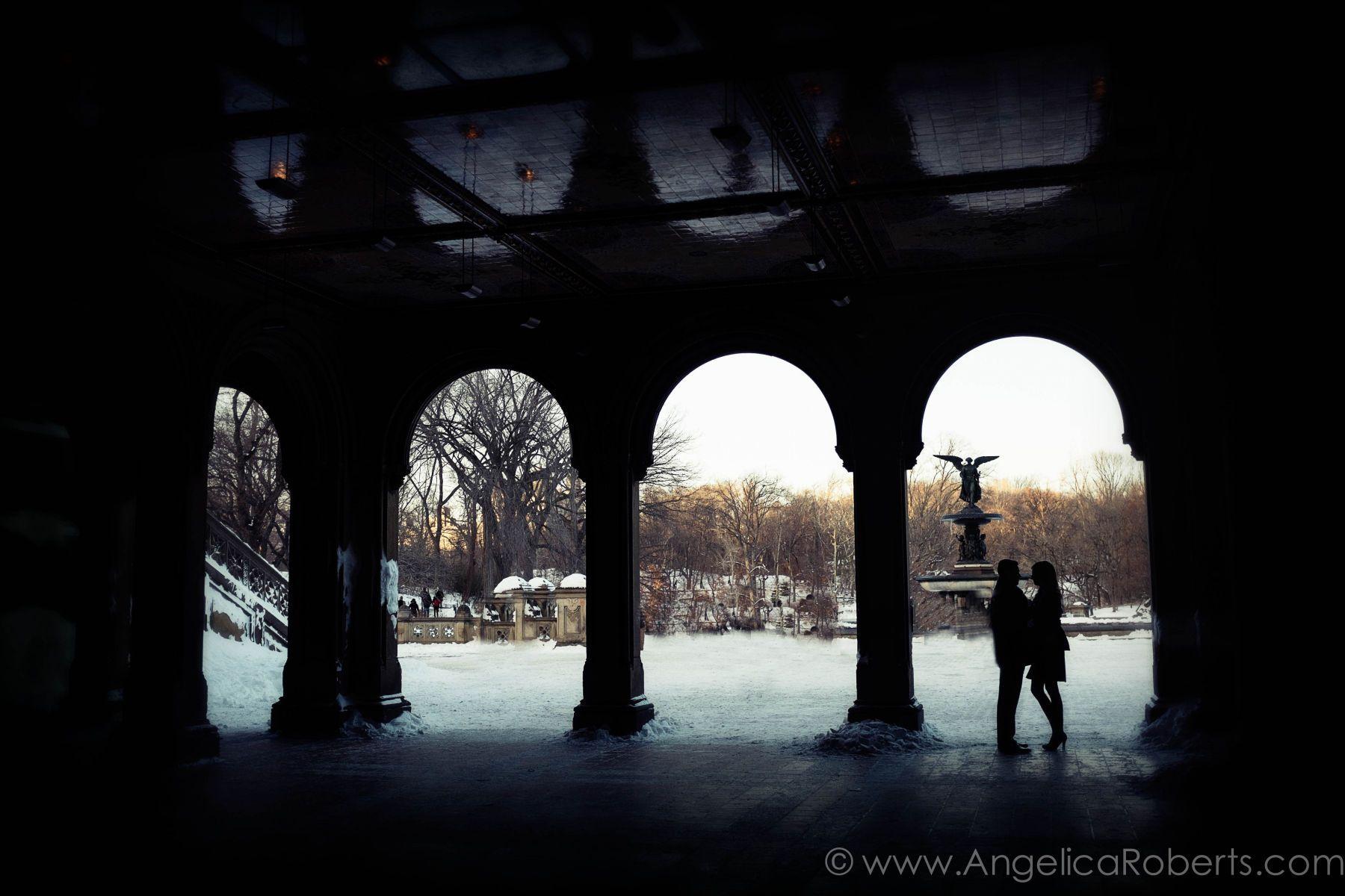 Bethesda Terrace - Central Park engagement photography