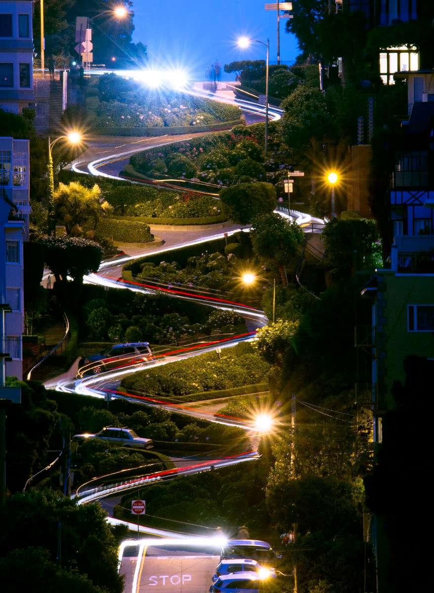 San Francisco's Lombard Street from afar