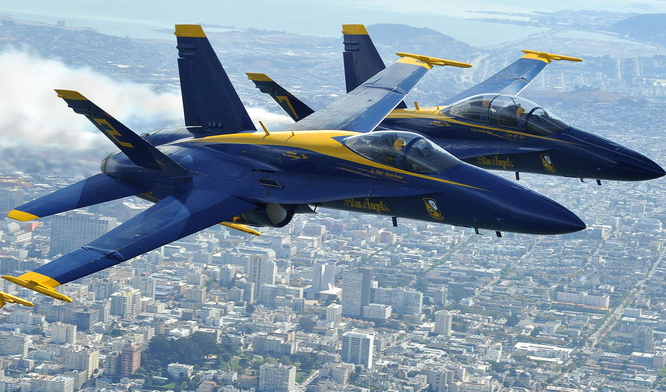 FLEET WEEK: The Navy Blue Angels fly over San Francisco