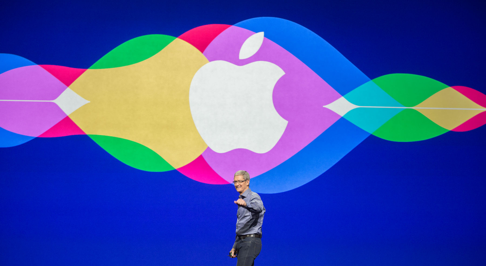 APPLE: CEO Tim Cook enters the stage