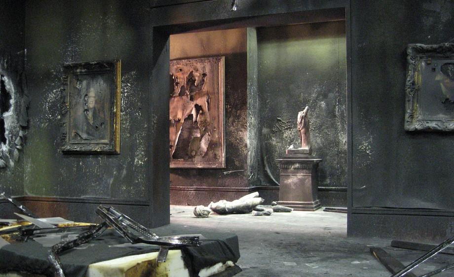 Int. Art Museum- gallery space post terrorist bombing