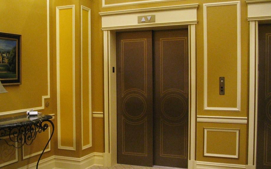 Int. Upper West Side Apartment Building- Upper Floor Elevator Lobby