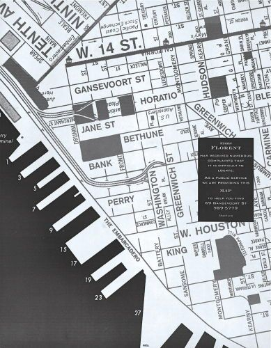 Map to Help Find 69 Ganesevoortwith Tibor Kalman, M&co, Published, Paper Magazine, 1988