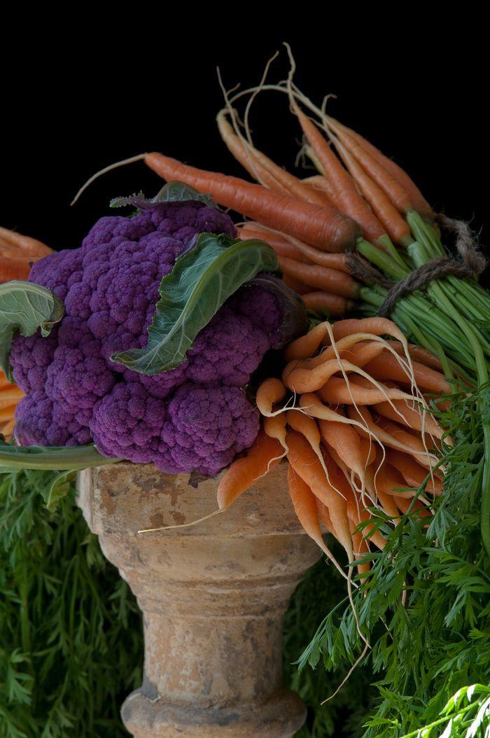 Carrots with Purple Cauliflower, 2012