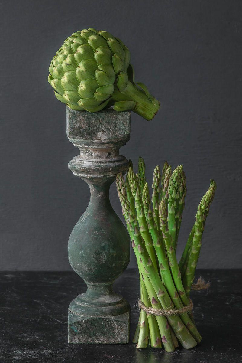 Lynn Karlin_Artichoke & Asparagus with Pedestal.jpg