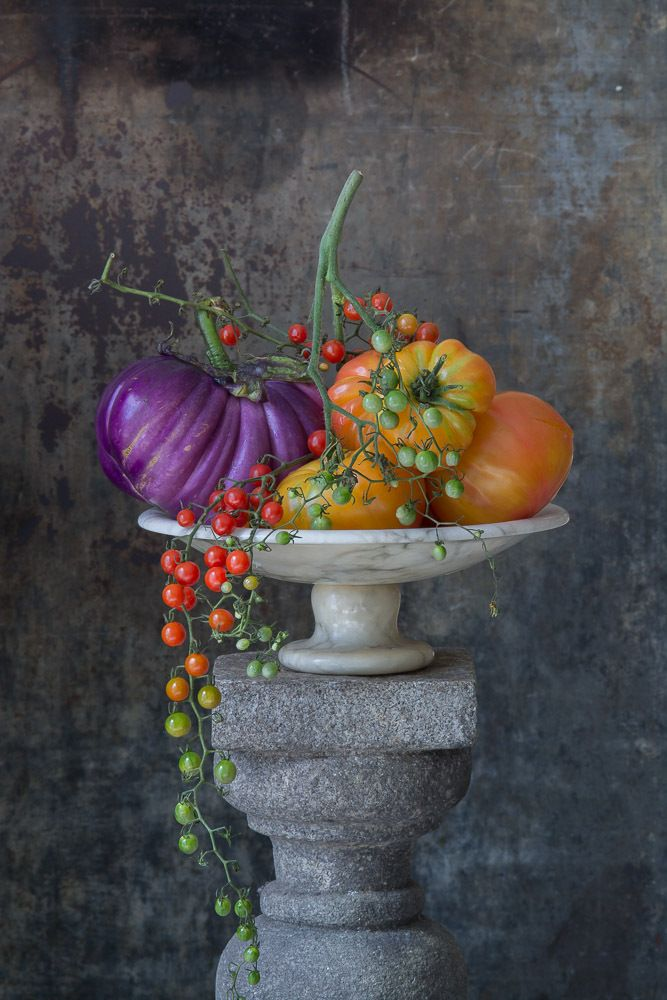 Still Life with Beads of Tomatoes, 2016