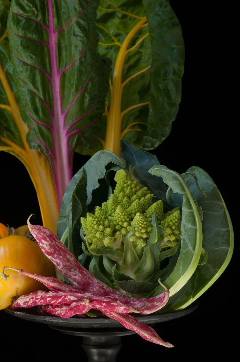 """Romanesco with Rainbow Chard"", 2014"