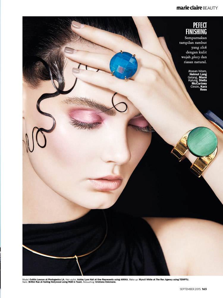 """MARIE Claire  Magazine hair/beauty layout """"Twist & Curl"""" shot by Dorit Thies Photography"""