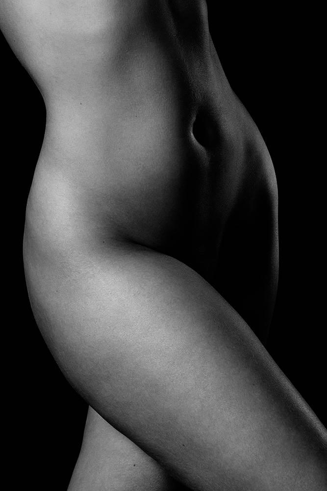 black and white elegant nude