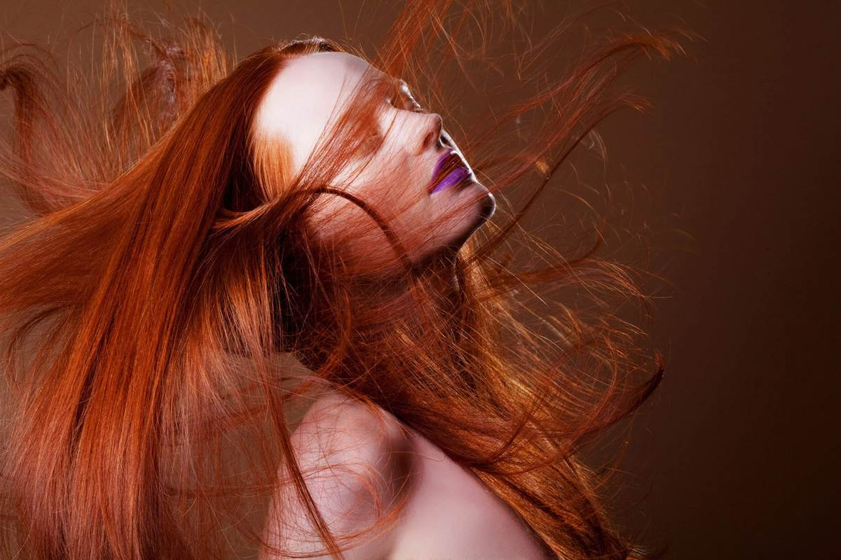 Ali with Photogenics - Red hair flying