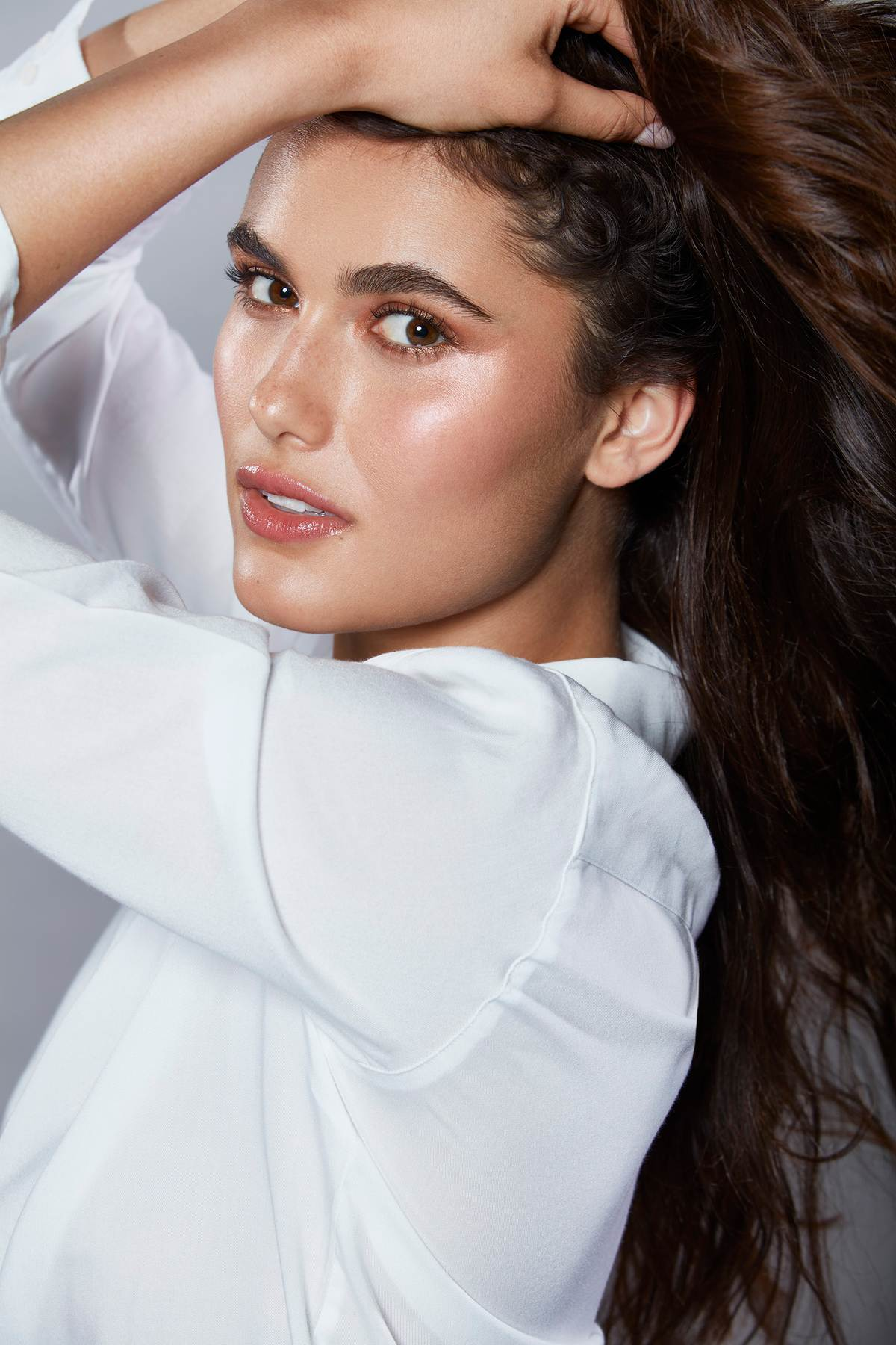Female Model with  glowing skin and fresh look