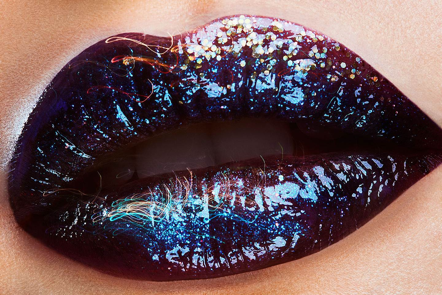 lip image with glittery Urban Decay gloss