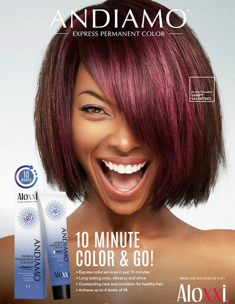 hair color campaign for ALOXXI  Andiamo