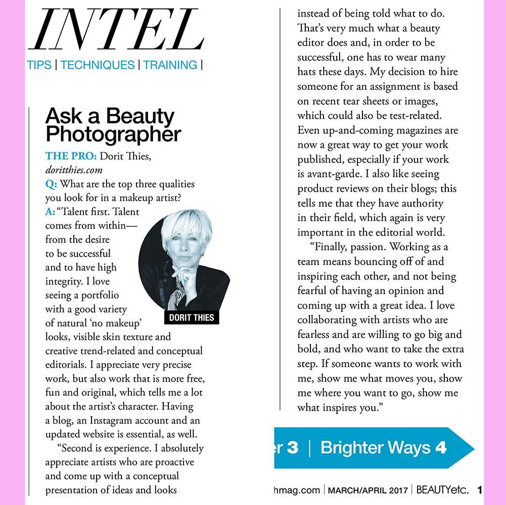 INTERVIEW FOR BEAUTY ETC MAGAZINE