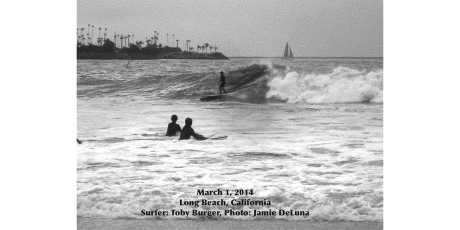 Surfing Long Beach, California
