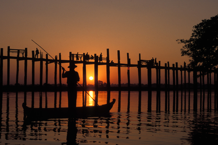 U Bein Bridge. Mandalay, Myanmar