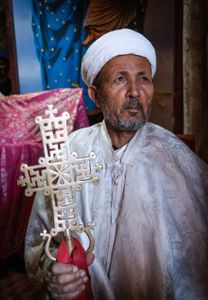 Orthodox priest. Lalibela Ethiopia