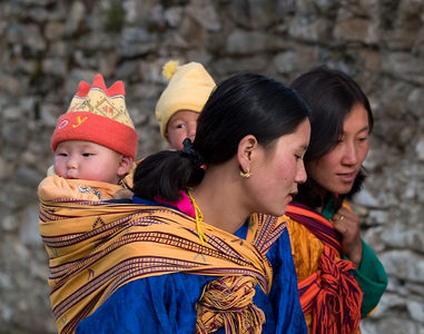 Mothers at a Religious Festival. Bhutan