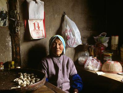 Dumpling-maker. Zhouzhuang, China