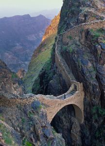The Bridge at Shahara. Yemen