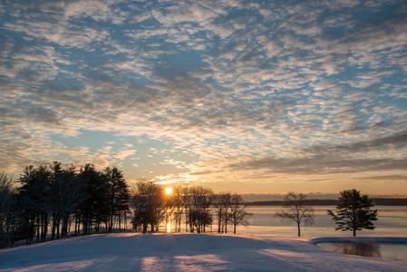 Sunrise. New Market, New Hampshire