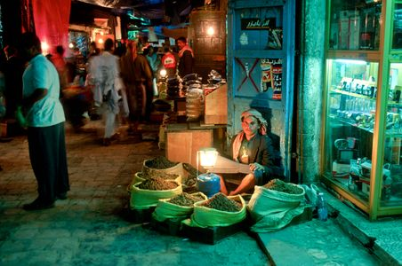 Night Market. Sana'a, Yemen