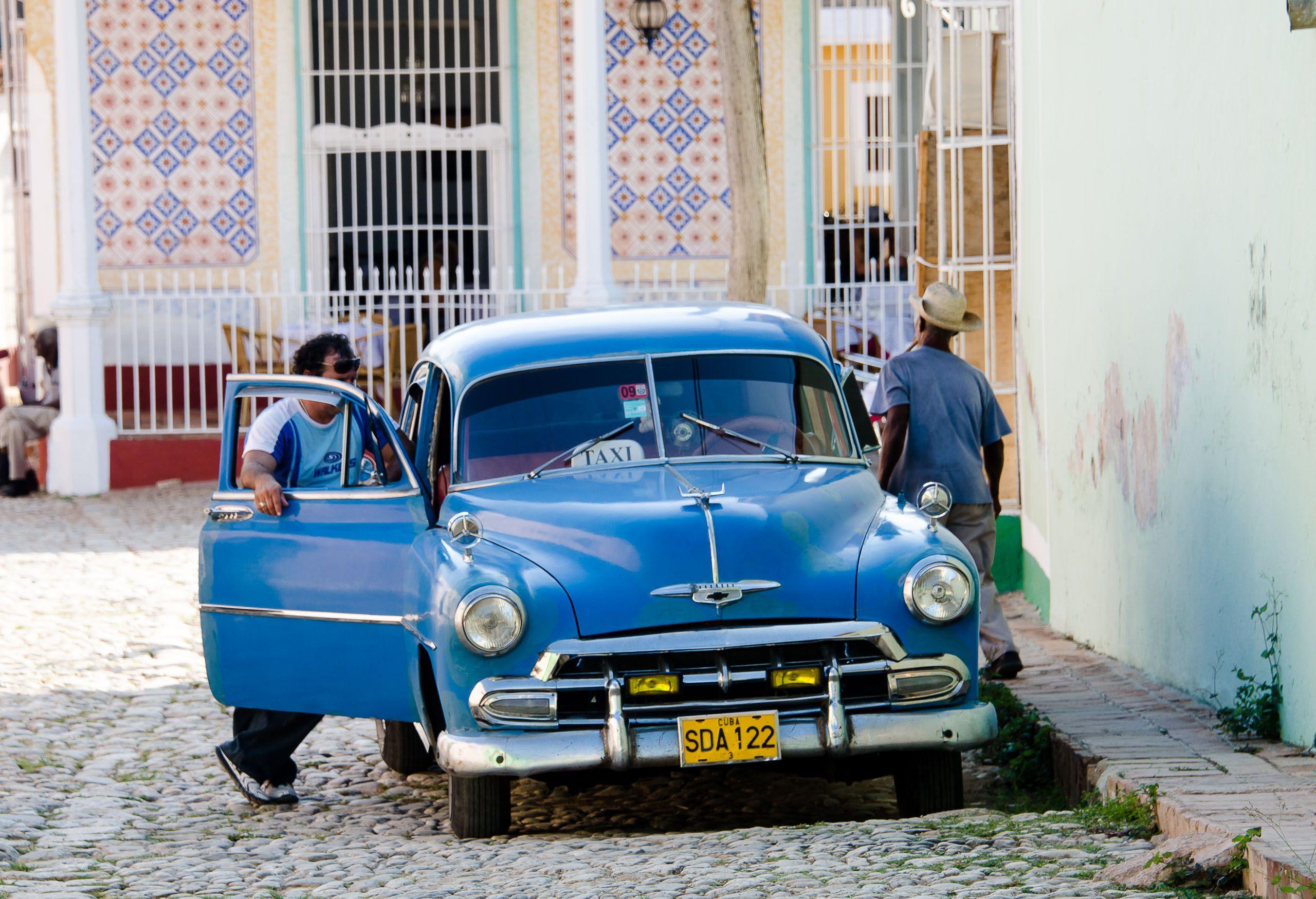 Old American Car. Trinidad, Cuba