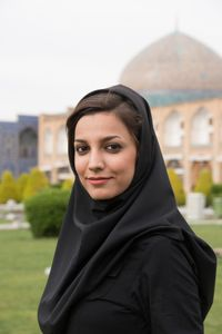Student  in  Naqsh-e Jahan Square. Esfahan, Iran