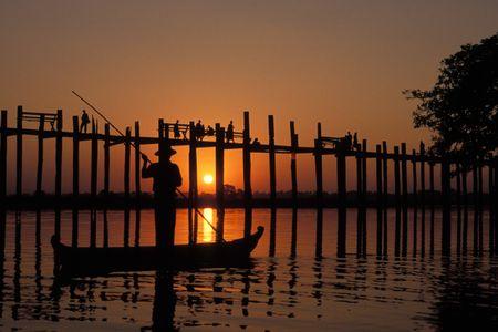 U Bein Bridge. Mandalay, Myanmar