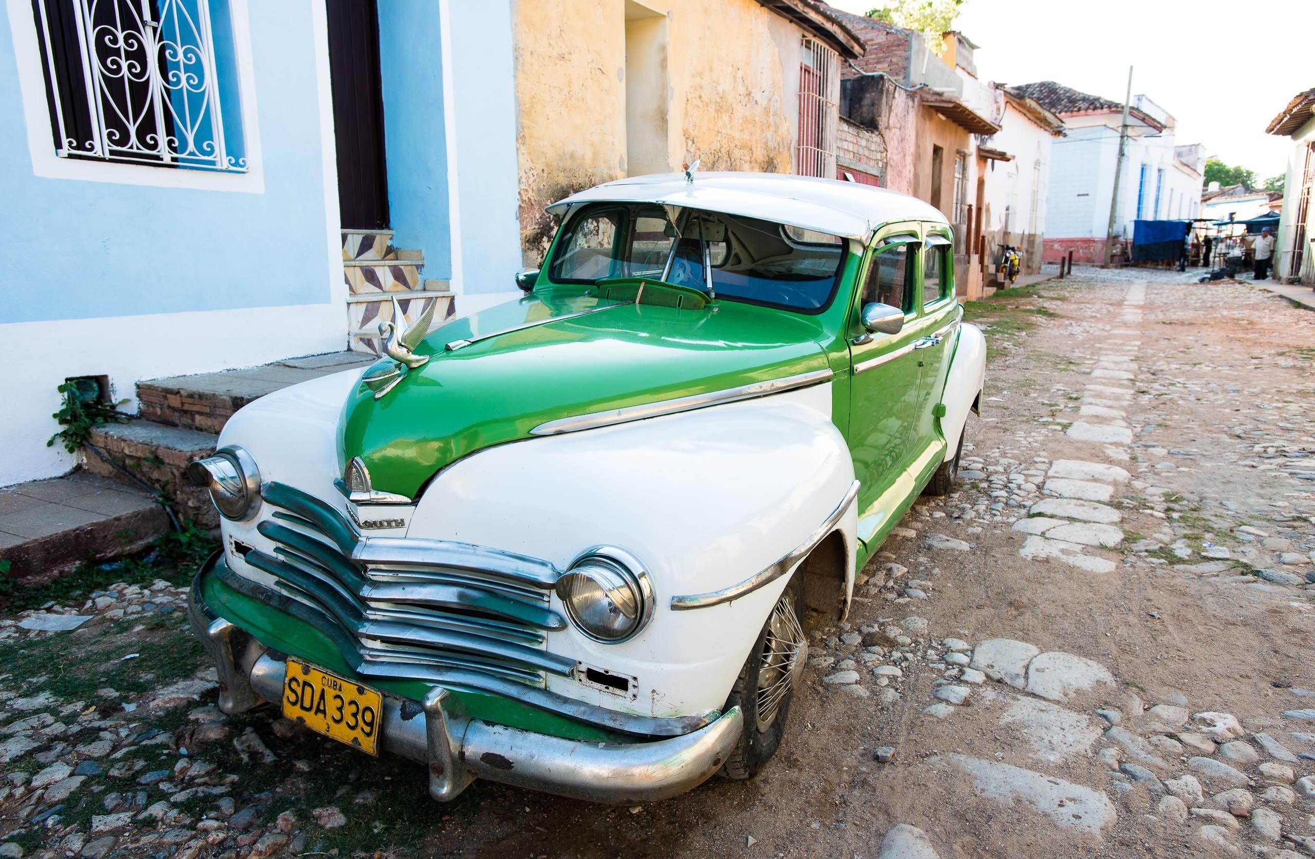 Vintage American Car, Trinidad, Cuba