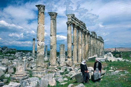Roman columns. Apamea, Syria
