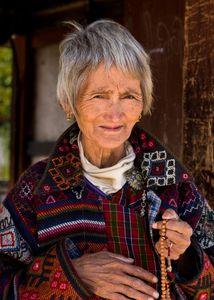 Old woman. Paro, Bhutan
