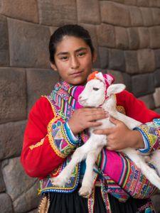 Indigenous girl. Cuzco, Peru