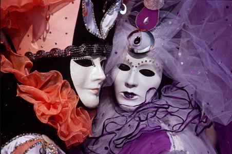 Carnevale Revelers. Venice, Italy