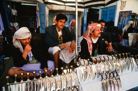 Jambiya Vendors. Sana'a, Yemen