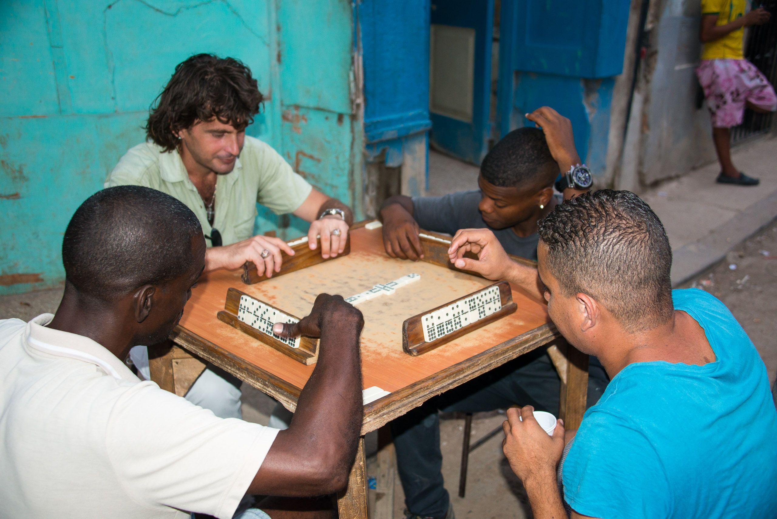 Domino Players. Havana, Cuba