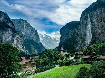 Lauterbrunnen Valley & Staubbach Falls, Switzerland