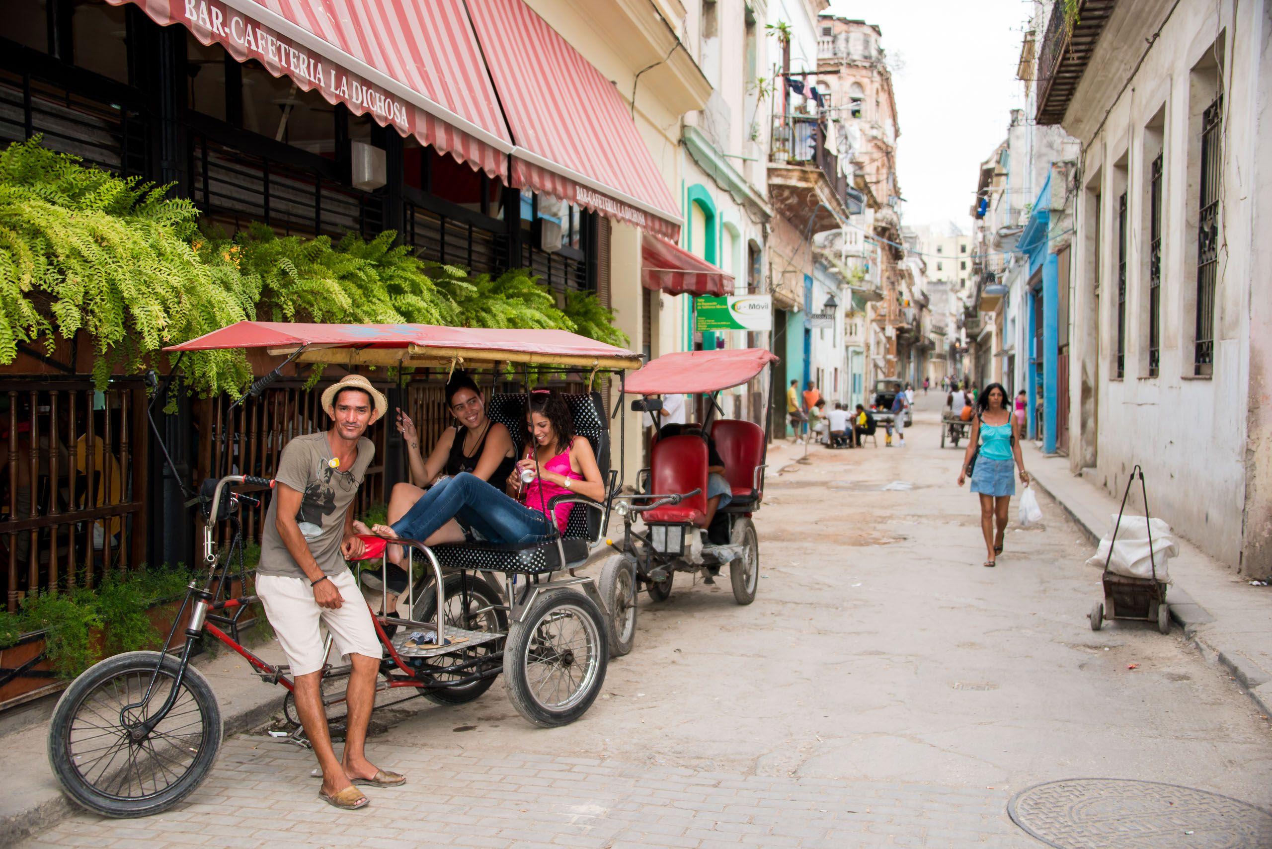 Bicitaxis. Havana, Cuba