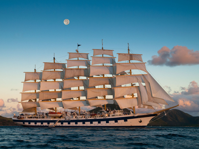 The Royal Clipper.  West Indies