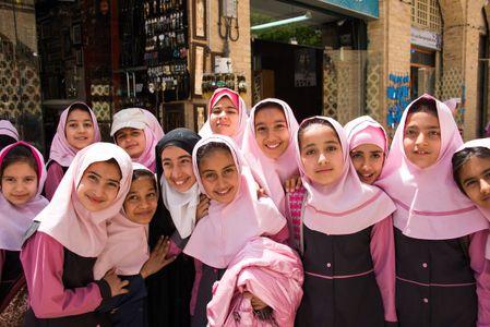 Schoolgirls. Tehran, Iran