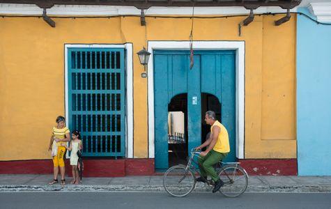Bicyclist. Trinidad, Cuba