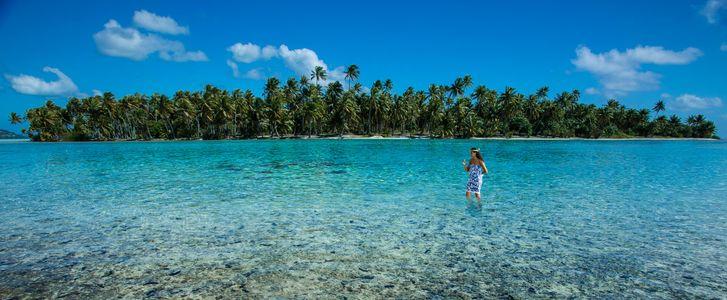 Islet near Bora Bora. French Polynesia