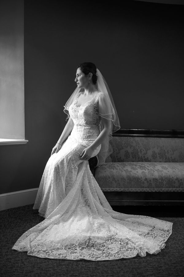 NC Black & White Bridal Portraits