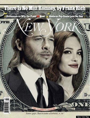 New York Magazine cover (Brad Pitt by Leigh Vogel)
