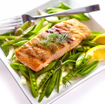 Elegant Salmon Dish With Fresh Vegetables